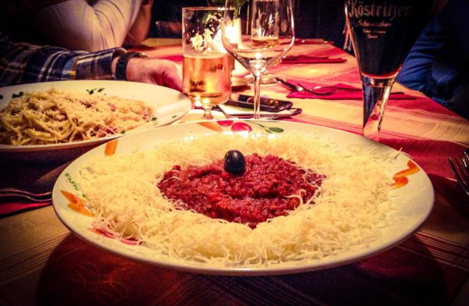 Leckere Spaghetti in der Kleinen Tonhalle Saarbrücken